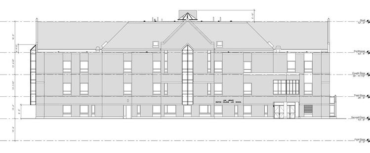 2017-02-11_BC - Law Library - Elevation - North Elevation
