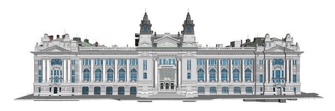 Budapest Stock Exchange Palace_LOD 200_06-09-18 - Front (Custom)